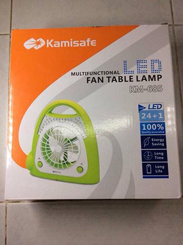ตะเกียงLED Kamisafe KM-685 มีพัดลม