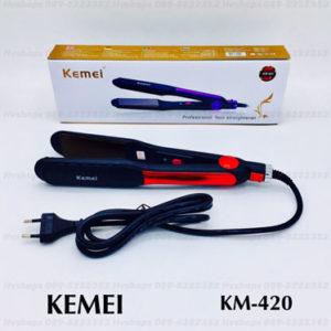 ที่รีดผมไฟฟ้าอย่างดี Kemei KM-420
