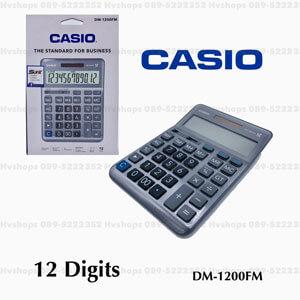 เครื่องคิดเลขคาสิโอ้ Casio รุ่น DM-1200FM