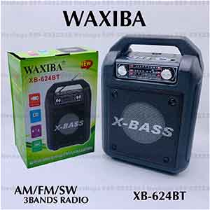 วิทยุบลูทูธใช้ฟัง AM/FM/SW ค่าย WAXIBA รุ่น XB-624BT