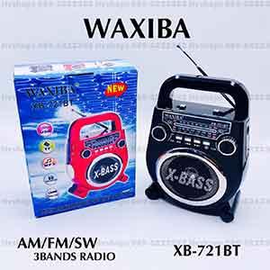 วิทยุบลูทูธแบบมีหูหิ้ว ยี่ห้อ WAXIBA XB-721BT