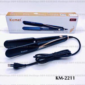 ที่หนีบผมแบบแผ่นหนีบเซรามิกทัวร์มาลีน ยี่ห้อ Kemei KM-2211