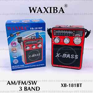 เครื่องเล่นFMพร้อมไฟฉายในตัว ยี่ห้อ WAXIBA XB-181BT