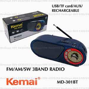 วิทยุตั้งโต๊ะแบบไร้สายบลูทูธ Kemai MD-301BT